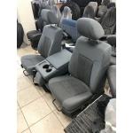 11-16 FORD SUPER DUTY F250 F350 F450 F550 GRAY CLOTH SEATS W/ CONSOLE 40/20/40