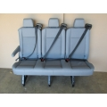 15 16 17 FORD TRANSIT VAN PASSENGER VINYL 3 PERSON COUCH BENCH SEAT GRAY RECLINE