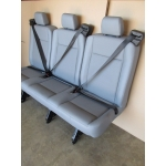 15 16 17 FORD TRANSIT VAN PASSENGER VINYL 3 PERSON COUCH BENCH SEAT GRAY