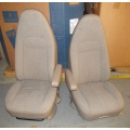 10-14 NTO CHEVY/GMC EXPRESS SAVANNA BUCKET SEAT TAN CLOTH DRIVER/PASSENGER SET