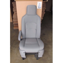 12 13 14 15 FORD ECONOLINE VAN POWER DRIVER BUCKET SEAT GRAY NEW STYLE CLOTH