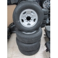 07-16 NTO 8 Lug Chevy Silverado Express Van 2500 3500 Steel Wheels Tires Centers