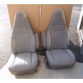 97-17 CHEVY GMC EXPRESS SAVANNA VAN DRIVER PASSENGER BUCKET SEATS GRAY CLOTH