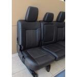 2011-2016 F250 F350 F450 SUPER DUTY CREW CAB REAR 60/40 SEAT BLACK LEATHER NTO