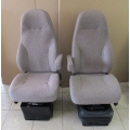 VOLVO VNL SEMI AIR RIDE DRIVER PASSENGER SEAT SET WHEAT MORDURA