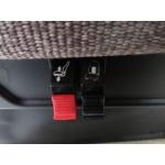 VOLVO VNL SEMI AIR RIDE DRIVER PASSENGER SEAT SET WHEAT MORDURA